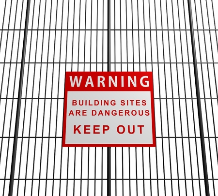 building site: Illustration of a building site sign Stock Photo