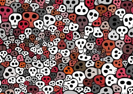 lots: Abstract seamless Illustration of lots of skulls