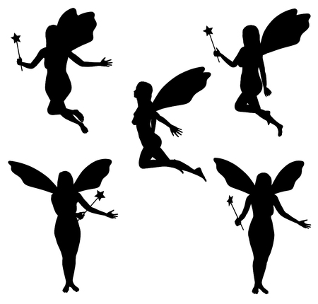 faerie: Illustrated Faries in five different poses
