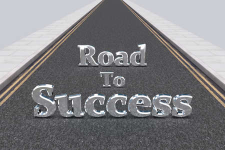 incentive: Illustration of a long road with the words \Road To Success\