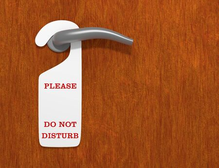 requesting: Illustration of a do not disturb sign Stock Photo