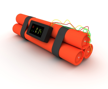 bomb threat: Illustration of Dynamite isolated on a white background