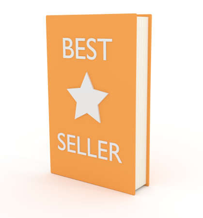 novels: Illustration of a book with the words \\\Best Seller\\\ and a star on the cover