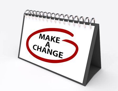 """circled: Calendario con el dicho  """"Hacer un cambio """" c�rculo rojo"""
