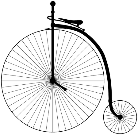 penny: Illustration of an antique Penny Farthing Bicycle