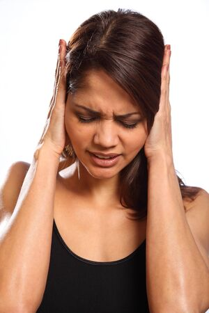 Pain hurt and disbelief from young woman Stock Photo - 9509848