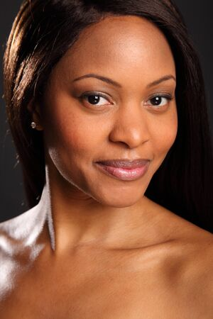 Portrait of stunningly beautiful black woman Stock Photo - 9642540