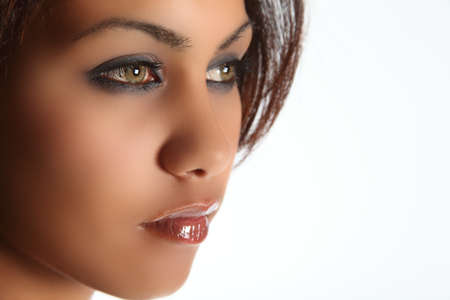 sultry: Green eyed beauty of mixed race