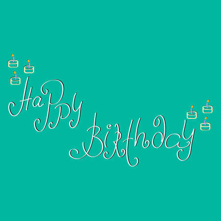 happy birtday: Stylish typographic poster with inscription happy birtday. Illustration
