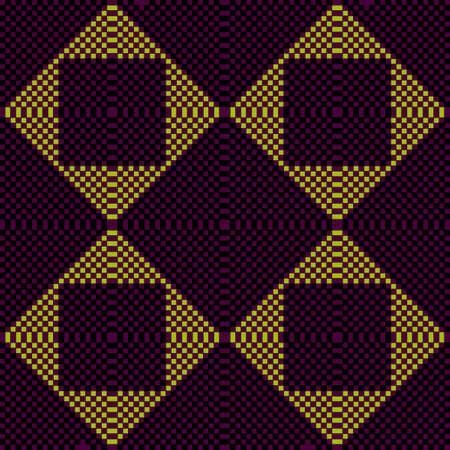 Pixel dark ornament. Pixel geometric. Illustration