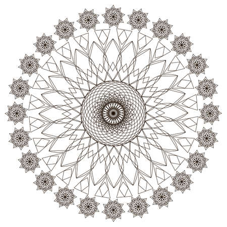Patterns in black and white. Page for coloring book.