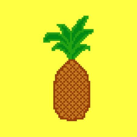 tropical: Tropical fruit. Pixel pineapple.