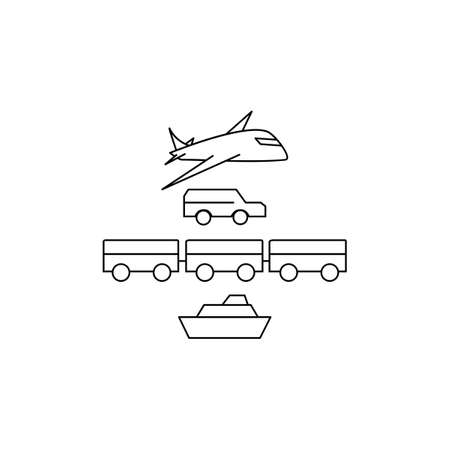 Simple Set of transport icon.Thin line style