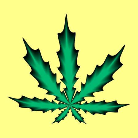 Marijuana or cannabis icon. Plant leaf vector illustration. Ilustração