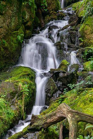 Waterfall near Burrator Reserviour, Sheepstor, Devon, UK Stockfoto