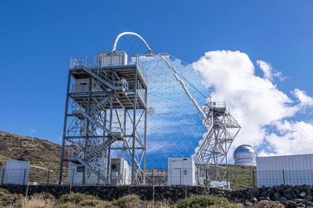 Mirrors of the MAGIC (Major Atmospheric Gamma Imaging Cherenkov Telescopes) telescope in La Palma, Canary Islands, Spain September 2018 Editorial
