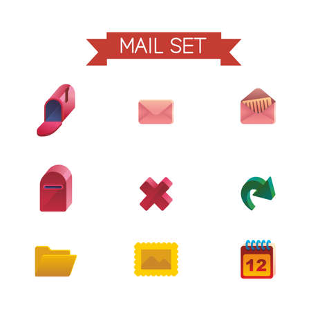 spam mail: This is set of isometric volume icons of mail topic. There are envelope, spam, delete, reload, message and other. For you work,web, presentation, infographic.