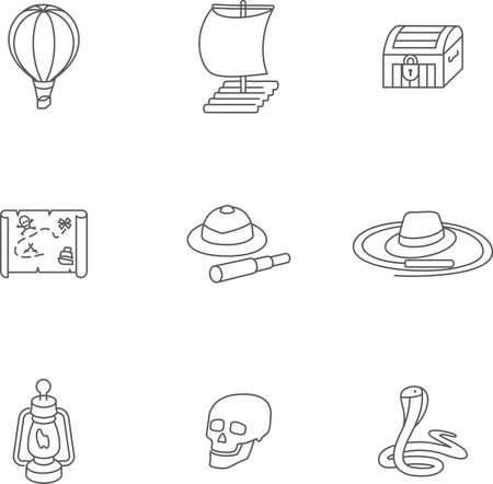 isla del tesoro: Se trata de una isla del tesoro ajustado iconos del diseño isométrica lineales. Aquí puede encontrar nueve iconos de la isla de desierto o pirats. elección perfecta para la infografía cumpleaños del bebé, web y a su voluntad.