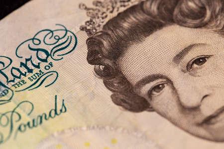 Gros plan de la livre sterling Banque d'images
