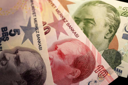 Turkish Lira Banknote Stock Photo