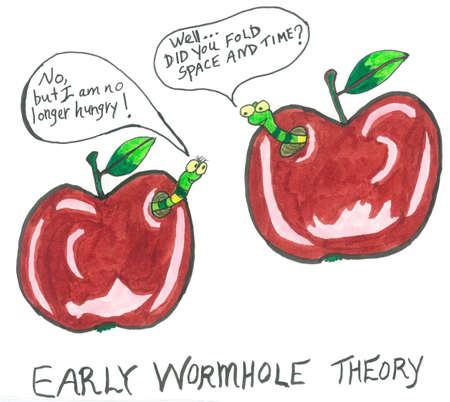 wormhole: Early Wormhole Theory Stock Photo