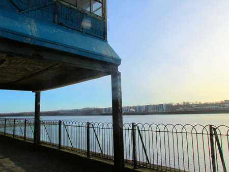 mersey: Stilt house by river mersey