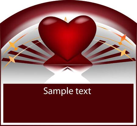 3d heart.Vector illustration Vector