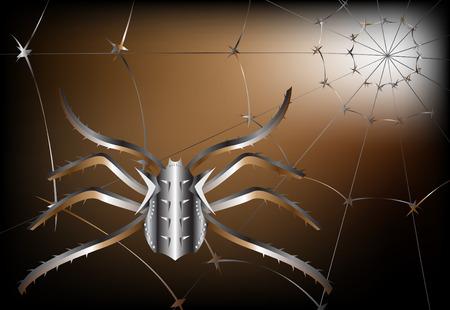 metallic spider Vector
