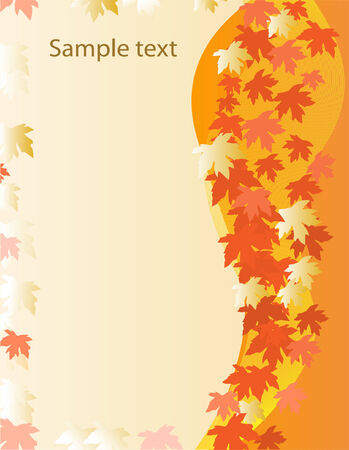 card with autumn leaves Vector