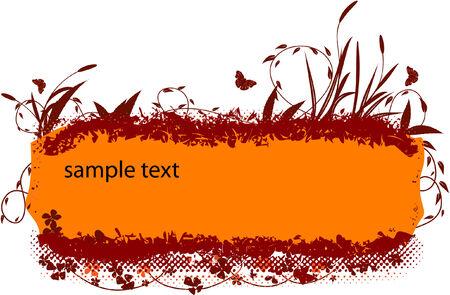 grunge floral banner Stock Vector - 5854676