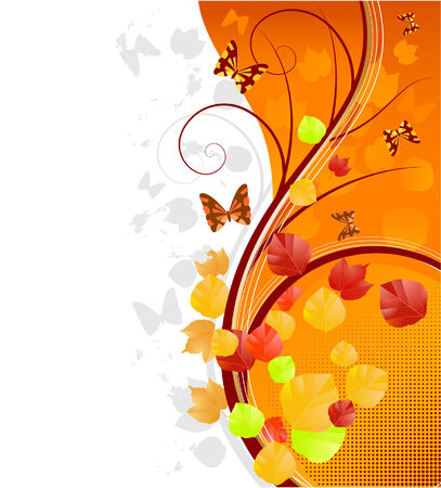 batterfly: autumn background with batterfly