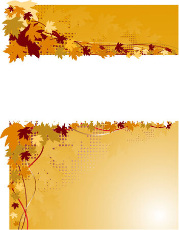 autumn floral background Stock Vector - 5854681