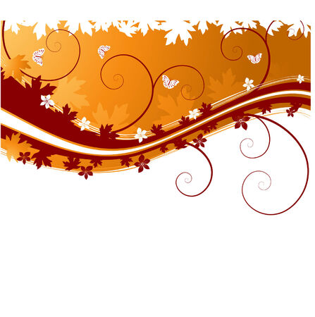 batterfly: autumn banner with batterfly