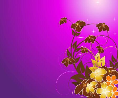 violet floral background Vector