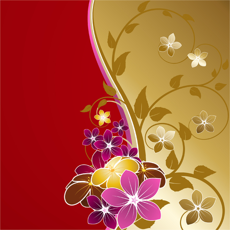 gold flower background Vector
