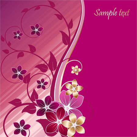 floral background with flowers Stock Vector - 6132062