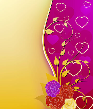 Valentine's day greeting card Stock Vector - 6177068