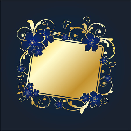 golden floral frame Stock Vector - 6220368