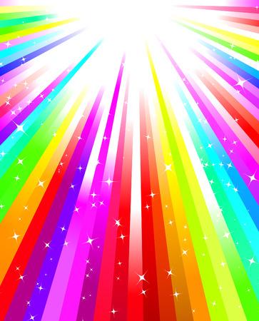 Rainbow burst Stock Vector - 6556808
