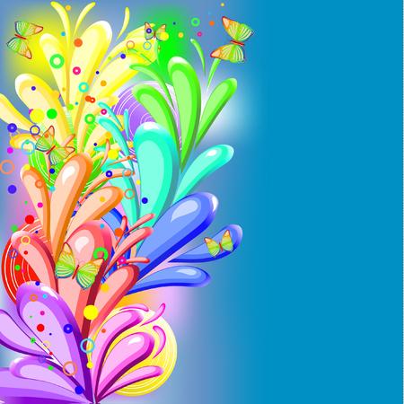 Fondo de arco iris con mariposas