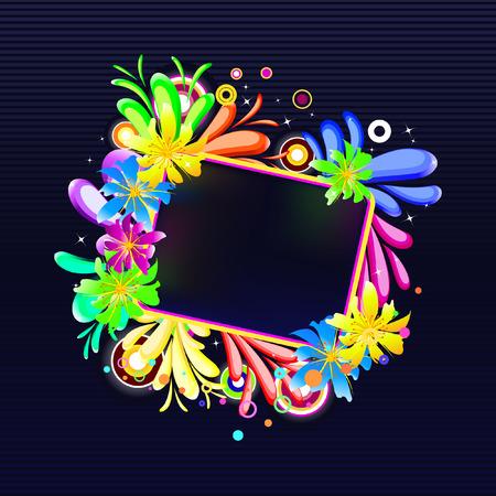 nightly: nightly floral banner Illustration