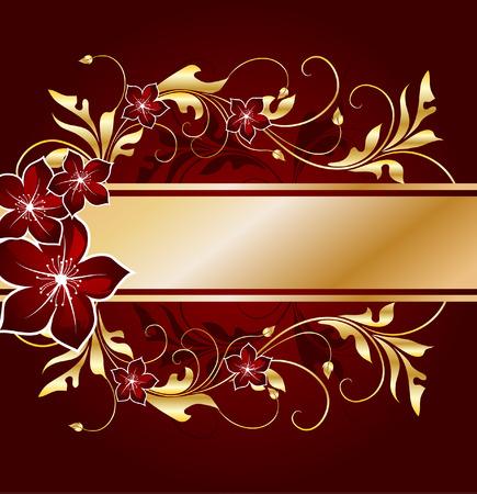 gouden bloemen frame