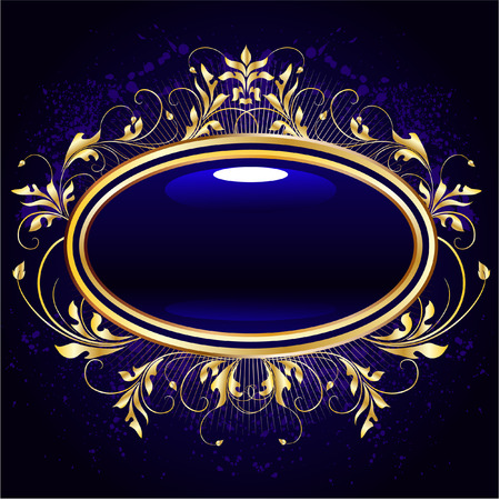 royal invitation: golden floral frame