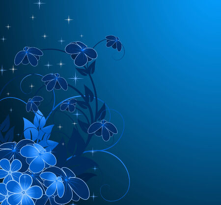 nightly floral background Vector