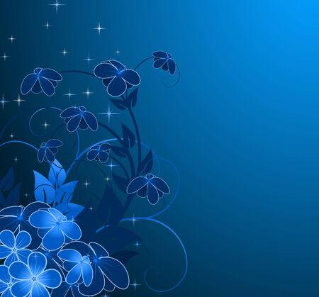nächtliche floral background
