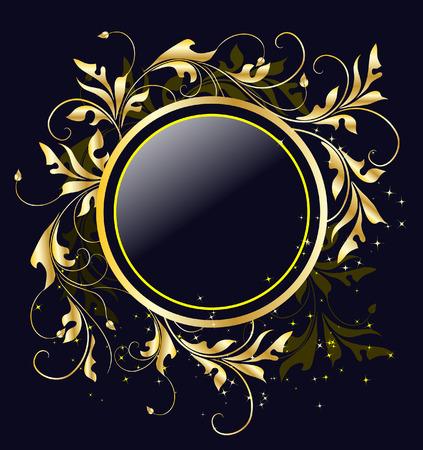 Gouden appeltje frame Stock Illustratie