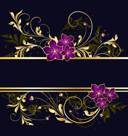 flore: golden floral frame