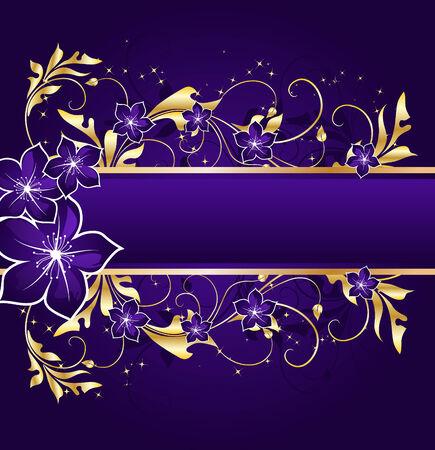 nightly floral banner Иллюстрация