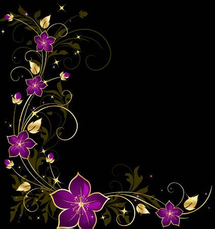 royal blue: floral background