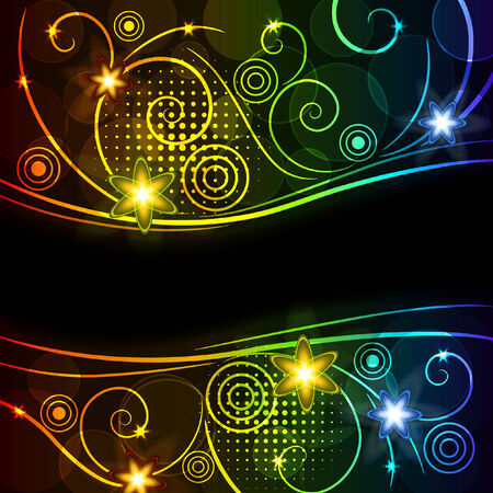 glowing floral background, eps10 format Stock Vector - 7315441